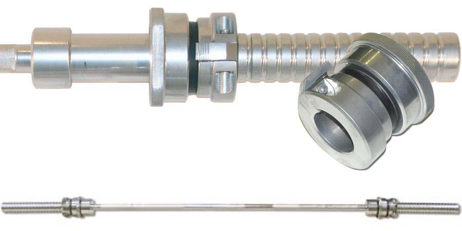 Гриф штанги Barbell усиленный, длина - 2200 мм, втулка - 50 мм, до 350 кг, олимпийский замок, хром. замок body solid для олимпийского грифа kbc хром 50 мм