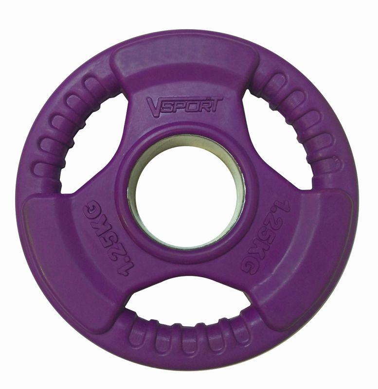 Гриф для тяги V-Sport LC-1.25 Диск олимпийский 1,25 кг обрезин. цветной с ми диск для грифа v sport lb 5 олимпийский 5 кг обрезин чёрный