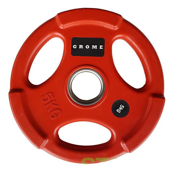 Диск для грифа PX-Sport олимпийский GROME WP074 COLOR-5 кг диск для грифа v sport lb 5 олимпийский 5 кг обрезин чёрный